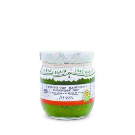 Pesto ligure con basilico genovese Dop senz'aglio