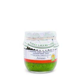 Pesto ligure con basilico genovese Dop con aglio