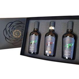 confezione-regalo-tris-olio-extravergine-di oliva-pugliese-la-cornula-500-ml