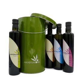 Confezione regalo oli extravergine di oliva siciliani di Mandranova 250 ML