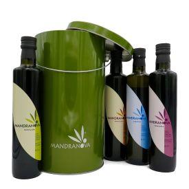 Confezione regalo oli extravergine di oliva siciliani di Mandranova 500 ML