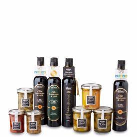 Prodotti Confezione Ulivo Confezione regalo in legno decorato di olio extravergine di oliva De Carlo Puglia 500 ML