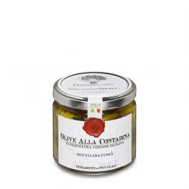 Olive Nocellara Etnea Alla Contadina Conserva di olive sottolio Frantoi Cutrera Sicilia 190 GR