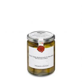 Olive Schiacciate Nocellara Etnea Olive Verdi Conservate In Salamoia Frantoi Cutrera Sicilia 290 GR