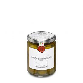 Olive Nocellara Belice Olive Verdi Intere Conservate In Salamoia Frantoi Cutrera Sicilia 290 GR
