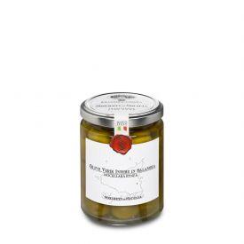 Olive Nocellara Etnea Olive Verdi Intere Conservate In Salamoia Frantoi Cutrera Sicilia 290 GR