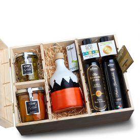 Box Trullo Piccola Confezione regalo olio EVO e conserve De Carlo Puglia VARIO