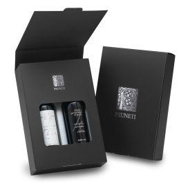 Black & White Confezione regalo olio extravergine di oliva Pruneti Toscana 2 x 100 ML
