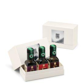 Collezione Cristina Oro Confezione regalo olio extravergine di oliva Pruneti Toscana 3 x 100 ML