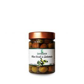Olive Verdi E Rosate Di Gaeta Conserva di olive verdi e rosate in salamoia Quattrociocchi Lazio 350 GR