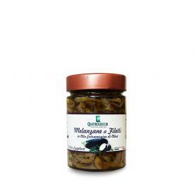 Melanzane A Filetti Conserva di verdure sottolio Quattrociocchi Lazio 320 GR