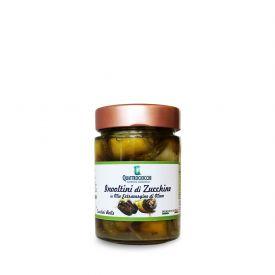Involtini Di Zucchine Con Tonno E Capperi Conserve di verdure ripiene sottolio Quattrociocchi Lazio 320 GR