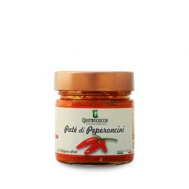 Pate' Di Peperoncini Crema spalmabile di verdure Quattrociocchi Lazio 190 GR
