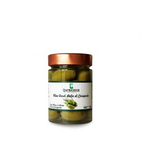 Olive Bella Di Cerignola Conserva di oliva in salamoia Quattrociocchi Lazio 580 GR