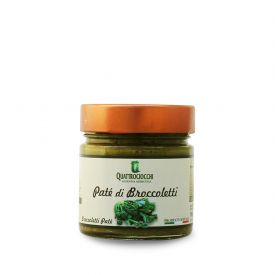 Pate' Di Broccoletti Crema spalmabile di verdure Quattrociocchi Lazio 190 GR