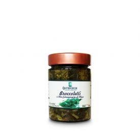 Broccoletti Conserva di verdure sottolio Quattrociocchi Lazio 320 GR