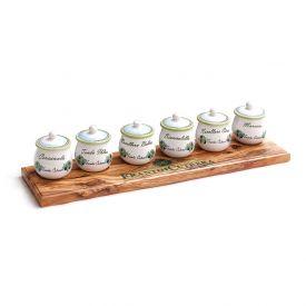Set di 6 bicchieri di assaggio per olio in ceramica Frantoi Cutrera